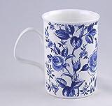 Roy Kirkham Fine English Bone China Mug - Blue Lucy Chintz - England