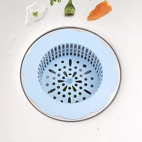 TiTCool Kitchen Bathroom Anti Clogging Silicone Sink Sewer Debris Filter Net Kitchen Sink Filter Light Blue