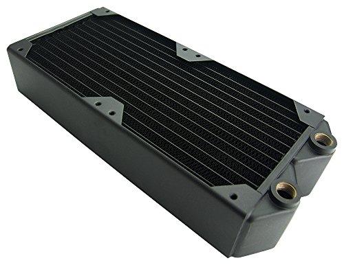Koolance HX-240XC Radiator, 2x120mm Fans, 54mm Thick, 30-FPI (Sandwiched Fan)