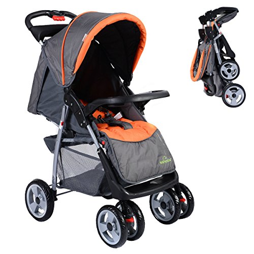 New 3 Color Foldable Baby Stroller | Child Kids Newborn Infant Buggy Pushchair by Eosphorus