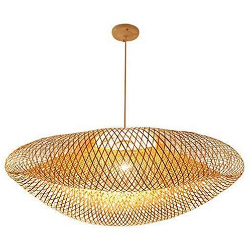 QinnLiuu Lámpara Colgante de Jaula de bambú Lámpara Colgante de ...