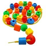 Best Motor Toy For Toddler Preschools - 30 Jumbo Toddler Lacing & Stringing Beads Review