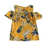 Tulle Dresses,Children Kid Girls Ruffles Pineapple Print Sleeveless Princess Dresses Clothes,Baby Clothing,2019 Yellow