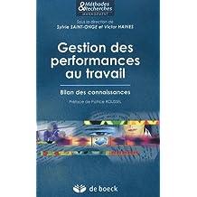 Gestion performances travail methodes & recherche