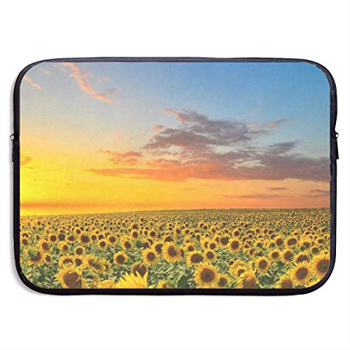 (Funny Design Sunflowers in Field Laptop Sleeve Waterproof Neoprene Diving Fabric Protective Briefcase Laptop Bag for IPad, Notebook/Ultrabook/Acer/Asus/Dell)