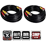 Night Owl Security Extreme HD 3MP 60 Feet BNC Video/Power Camera Extension Cable (