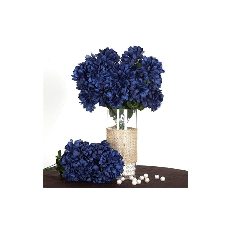 silk flower arrangements efavormart 56 large chrysanthemum mums ballsfor diy wedding bouquets centerpieces party home decorations - 4 bushes - navy blue