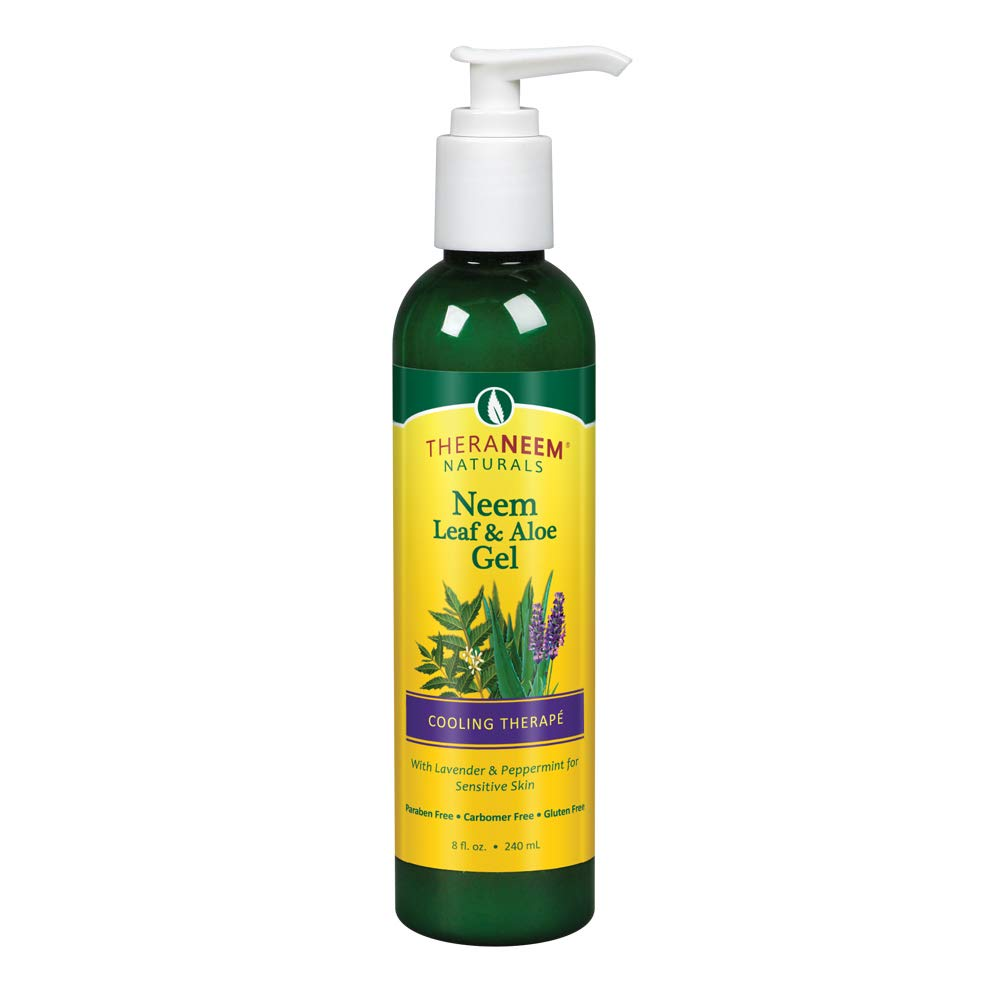 Theraneem Neem Leaf and Aloe Gel, Lavender and Mint, 8 Ounce by Thera Neem
