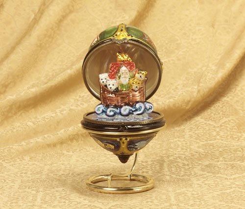 (KSA Polonaise Noah's Ark Hinged Egg Christmas Ornament)