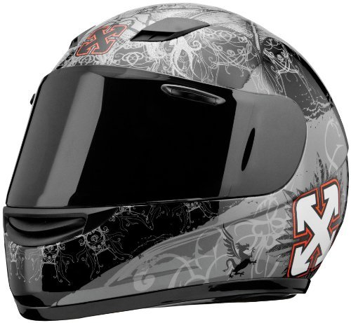 Sparx S-07 Special Edition Graphics Helmet, Gray Nemesis, Size: Md, Helmet Type: Full-face Helmets, Helmet Category: Street, Primary Color: Gray, 10001520502