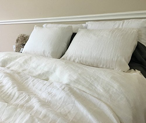 Soft White Duvet Cover, Soft White Linen Duvet Cover, Off White Bedding, Custom Bedding, Linen Bedding, Queen Duvet Cover, King Duvet Cover, Twin Duvet Cover, Full Duvet Cover, FREE SHIPPING