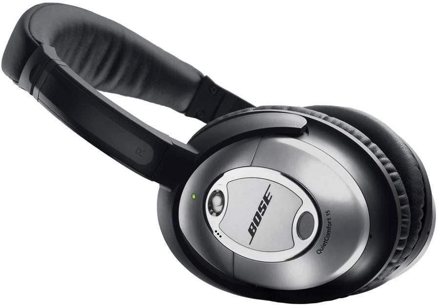 Bose® Auriculares QuietComfort® 15 Acoustic Noise Cancelling® - Negro/Plateado