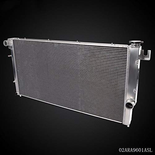 2 Row Aluminum Racing Performance Radiator Replacement For 1994-2002 Dodge Ram 2500 3500 5.9L L6 Diesel Engine CU1553