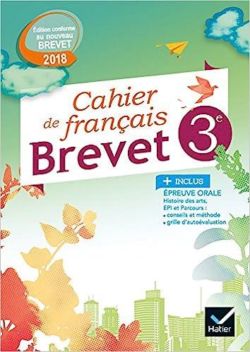 Amazon Fr Cahier De Francais 3e Special Brevet Ed 2018