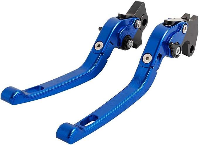 Cnc Aluminium 3d Verstellbarer Bremsgriff Klappbarer Motorrad Kupplungshebel Für Yamaha Wr 125x 2011 2015 Blau Auto
