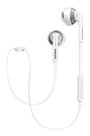 Philips SHB5250WT MyJam Fresh Tones - Auriculares Bluetooth (Micrófono, Cable Plano antienredo, Diseño