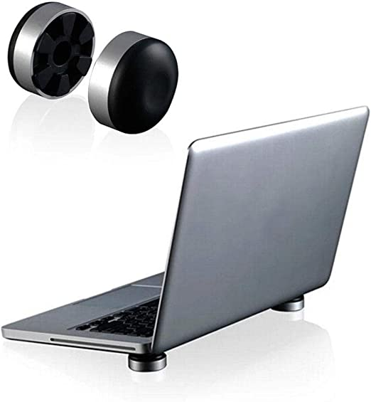 Invisible Adjustable Tray Lazy Folding Laptop Stand for MacBook Pro//Air Black