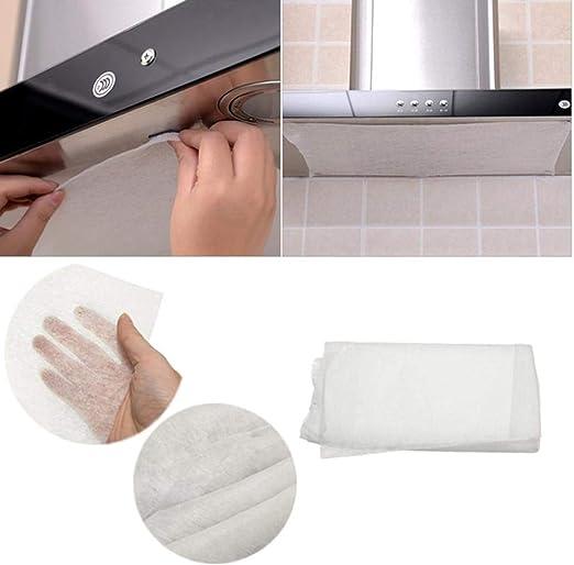 Paquete de 10 filtros de grasa para campana de cocina, resistentes al humo, papel absorbente de