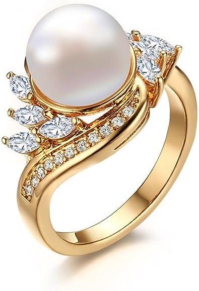 Dixey Luxury Anillos Sortijas 18k de Compromiso Aniversario Matrimonio Boda Oro Plata Anel De Prata 925 Joyeria Fina Para Mujer