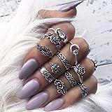 Edary Crystal Ring Set Boho Fashion Moon Flower