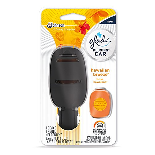 Glade Plugins Car Air Freshener Starter Kit, Hawaiian Breeze