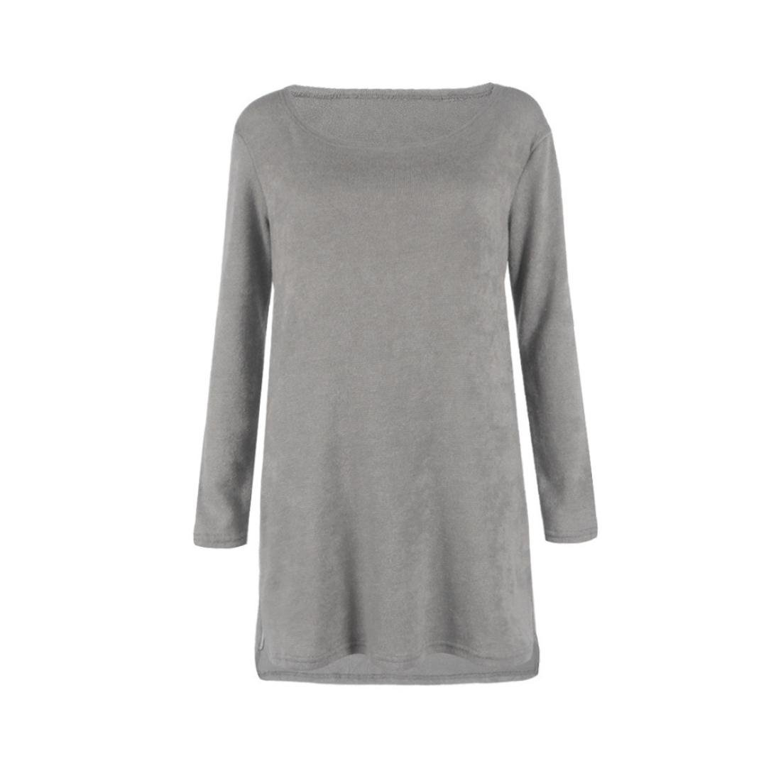 Yukong Womens Side Zip Knitted Sweater Plain Jumper Blouse Tops Dress: Amazon.co.uk: Clothing