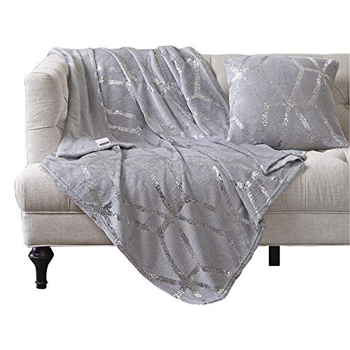 Comfort Spaces Super Soft Microplush Throw Blanket - Lightweight Bed or Couch Throw 50