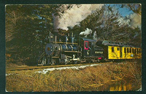 Edaville No 8 Steam Passenger Train Cranberry Bogs MA Railroad Postcard