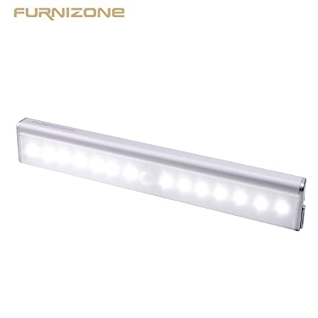 Beau Furnizone Motion Sensor Closet Light Stick On Cabinet Light Strip Night Light  Portable Wireless LED Stair