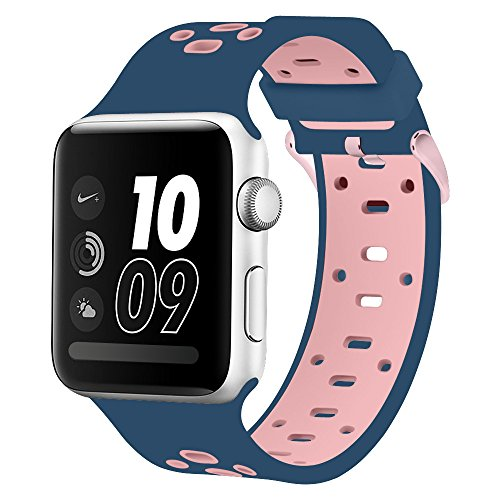 Compatible Apple Watch Band 38mm & 40mm, Alritz Silicone Sport Strap Replacement for Apple Watch Series 4/Series 3/Series 2/Series 1/Nike+