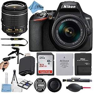 Nikon D3500 24.2MP DSLR Digital Camera with NIKKOR 18-55mm VR Lens + SanDisk 32GB Memory Card + Hi-Speed USB Card Reader…