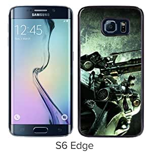 Personalized Samsung Galaxy S6 Edge With Fallout3 Black Customized Photo Design Samsung Galaxy S6 Edge Phone Case