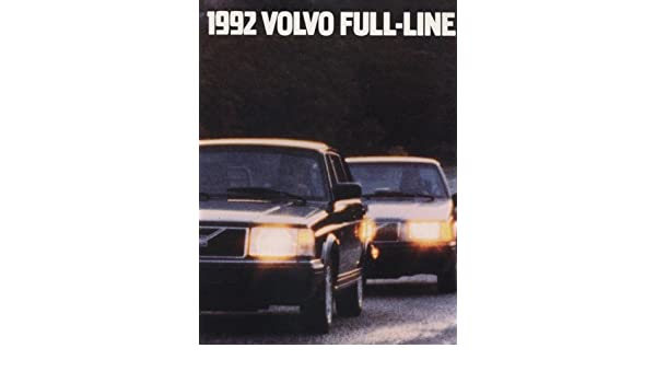 Amazon.com: 1992 Volvo Sales Brochure 960 940 Turbo 240 740: Everything Else