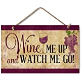 "Highland Graphics ""Wine Me Up"" Wood Kitchen Sign"