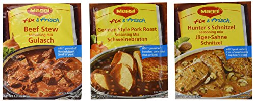 maggi-fix-frisch-beef-stew-gulasch-german-style-pork-roast-schweinebraten-and-hunters-schnitzel-jage