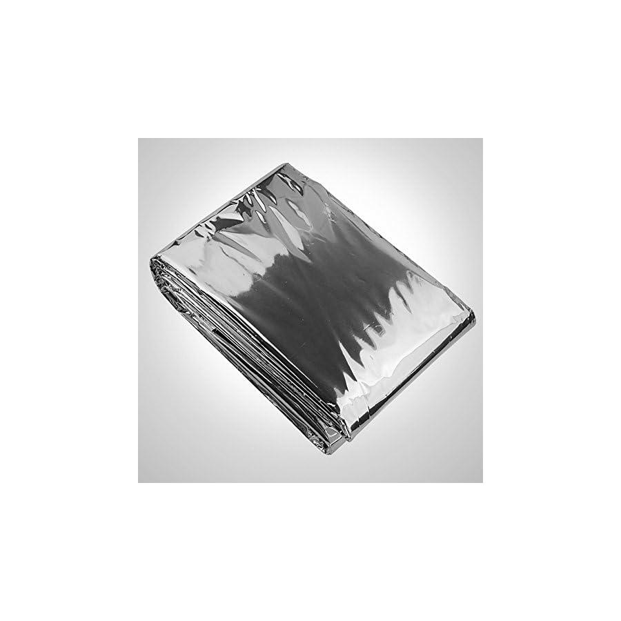 "Optimum Weatherproof Survival Mylar Emergency Solar Blanket, Set of 10 (39"" x 79"")"