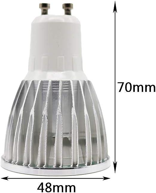 Bombilla LED GU10 de 5 W que sustituye a bombillas halógenas de 50 W, luz blanca cálida, 3000 K, GU10 LED, 120 ° de ángulo de dispersión GU10, 500 lm, Ra >