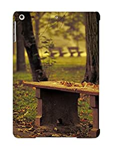 Hot Wdnowi-4165-yklsiof Nature Landscapes Leaves Trees Park Bench Path Roads Garden Autumn Fall Seasons Plants Mood Tpu Case Cover Series Compatible With Ipad Air