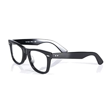 d930b1f2af Image Unavailable. Image not available for. Color  Eileen Elisa Acetate  Retro Rectangle Glasses Frames for Men Women Optical Eyeglasses Frame ...