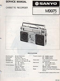service manual for sanyo m9975 cassette recorder sanyo electric inc rh amazon com Golf Cart Schematics or Diagrams Yamaha Golf Cart Manual
