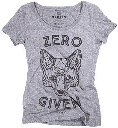Modern Discord&Trade; Womens Zero Fox Given Tri-Blend Scoop Neck T-Shirt, Premium Heather, - Fox Run Usa