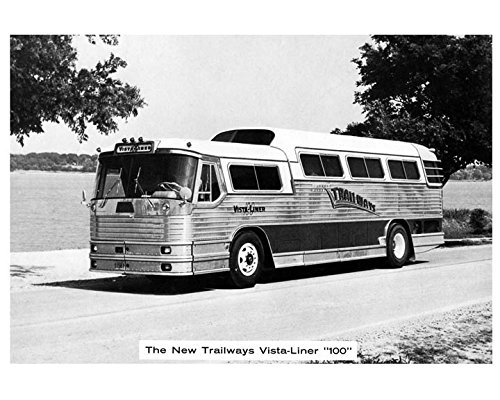 - 1955 Flxible Vista Liner Cummins Trailways Bus Photo