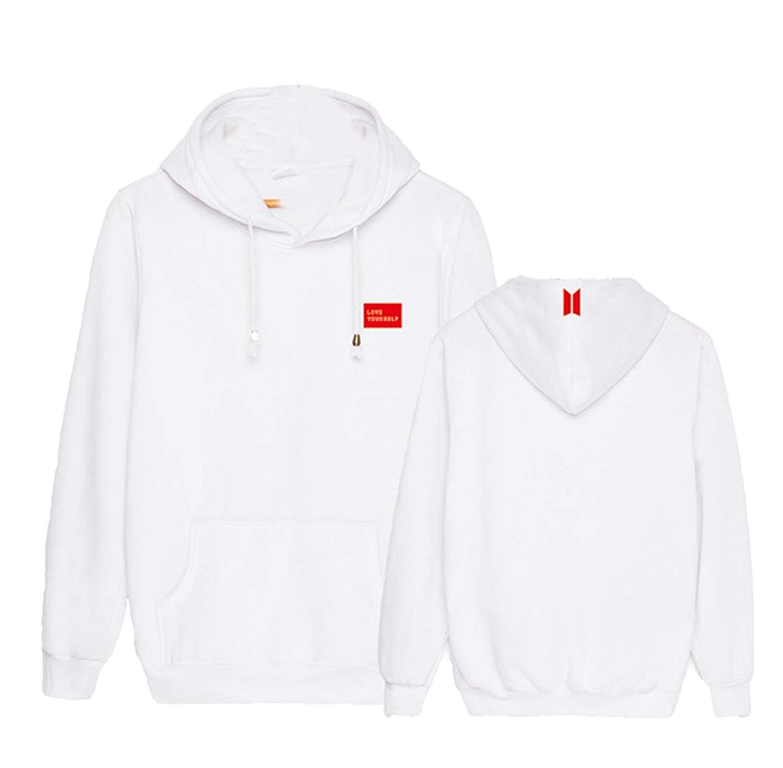 babyHealthy Kpop BTS World Tour Hoodie Jimin Suga Jung Kook V Jacket Pullover Sweater