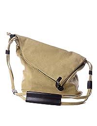 Badiya Women's Vintage Canvas Shoulder Bag Crossbody iPad Bags for All-Purpose Use
