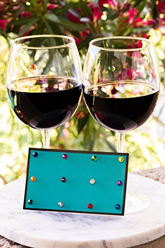 Swarovski Crystal Magnetic Wine Glass Charms Set of 12 Glass Markers that Work on Stemless Glasses - Gift/Storage Box Included by Simply Charmed by Simply Charmed (Image #3)
