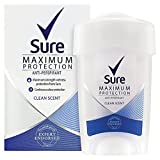 Sure Women Maximum Protection Clean Scent Cream Anti-Perspirant Deodorant 45ml (PACK OF 2)