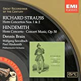R Strauss: Horn Concerto 1, 2; Hindemith: Horn Concerto, Concert Music for Brass