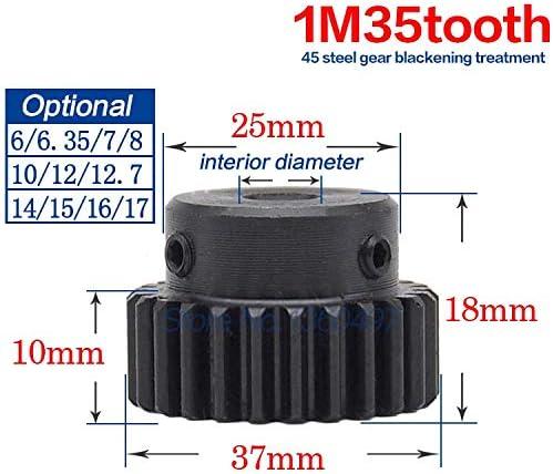 Engranajes rectos módulo 0,8 15 dientes de acero Engranaje