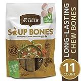 Rachael Ray Nutrish Soup Bones Longer Lasting Dog Treats, Chicken & Veggies Flavor, 11 Bones