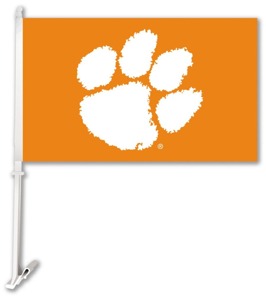 Bsi Products 97025 Car Flag W/Wall Brackett - Clemson Tigers   B000C86R4I